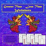 Greater Than Less Than Worksheets - Chinese Theme