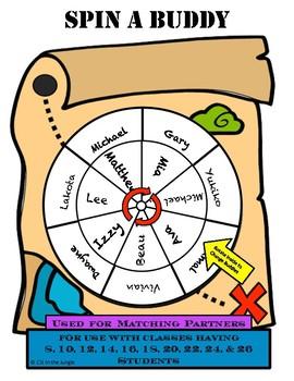 Spin A Buddy Treasure Map