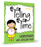 K - 1st Grade Telling Time Worksheets, With Clocks To The Hour And Minute Hands