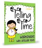 Kindergarten 1st Grade Telling Time to Half Hour Worksheets Math Activities