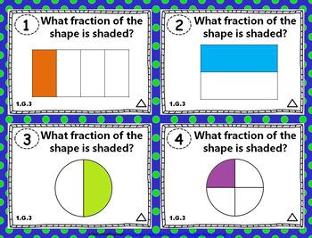 1st Grade Geometry Task Cards: 1.G Geometry Task Cards 1st Grade Math Centers