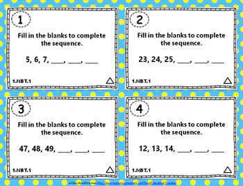 1st Grade NBT Task Cards: Number & Operations in Base Ten Task Cards 1NBT Center