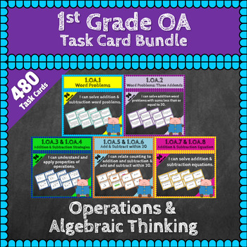 1st Grade OA Task Cards Bundle: 1st Grade Operations Algeb