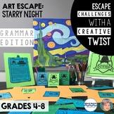 Art Escape: Starry Night (Grammar Edition) | Escape Room Activity