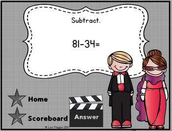 2 Digit Subtraction with Regrouping Interactive Math Game