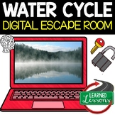 Water Cycle Digital Escape Room, Breakout Room or Activity Pages, No Prep
