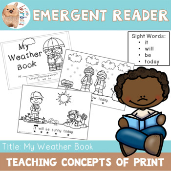 Emergent Readers / Concepts of Print / Sight Words - It Will Be Today