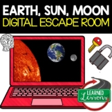 Earth, Sun, Moon Digital Escape Room, Breakout Room No PREP