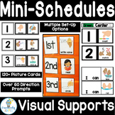 Mini-Schedule Cards and Visual Directions PreK-2 SPED ELL
