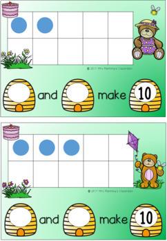 Mathematics Tens Frames - Bear Theme