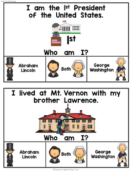Presidents Day Abe Lincoln and George Washington Bundle