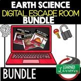 Earth Science Digital Escape Room Bundle, Breakout Room No Prep