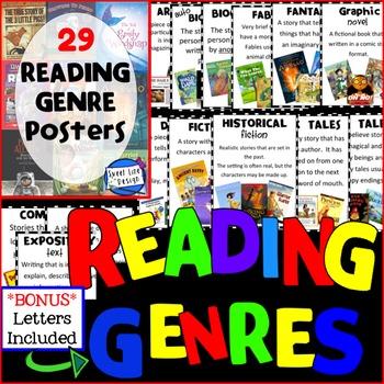 29 Reading Genre Posters {Sweet Line Design}
