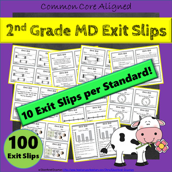 2nd Grade MD Exit Slips: Measurement & Data Exit Slips, 2nd Grade Exit Tickets