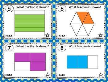 3rd Grade Fractions Task Cards 3.NF: Fractions Task Cards, Third-Grade NF Bundle