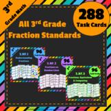 3rd Grade Fractions Task Cards Bundle: 3.NF Centers