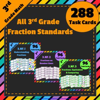 3rd Grade Fractions Task Cards 3.NF: Fractions Task Cards,