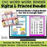 DIGITAL & PRINT CVC Short Vowel Phonics Word Work Interven