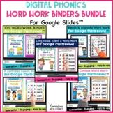 Digital Phonics Word Work Reading Intervention Binders Bun