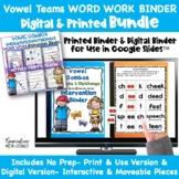 Digital & Print Vowel Teams | Vowel Combos Phonics Word Wo
