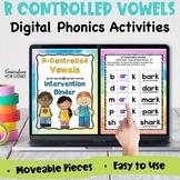 Digital R Controlled Vowels Phonics Word Work & Fluency Bi