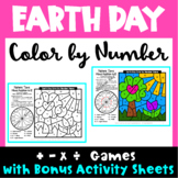 Earth Day Color by Number: Earth Day Math Games