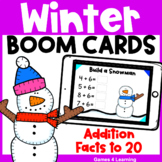 Winter Math Boom Cards - Addition Facts to 20 for Fact Flu