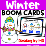 Winter Math Boom Cards Division Fact Fluency: Distance Learning