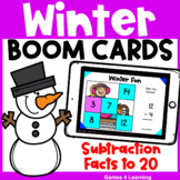 Winter Math Boom Cards: Subtraction Facts for Subtraction to 20