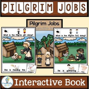 ADAPTED BOOK: Pilgrim Jobs at Thanksgiving (PreK-2/ELL/SPED)
