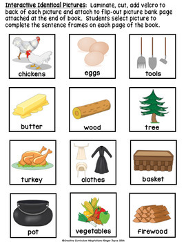 ADAPTED BOOK: Thanksgiving/Pilgrims (PreK-2/ELL/SPED)