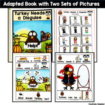 ADAPTED BOOK: Turkey in Disguise (PreK-2/ELL/SPED)
