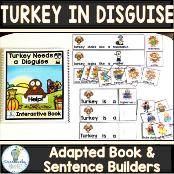 ADAPTED BOOK: Turkey in Disguise (PreK-2/ELL/SPED)