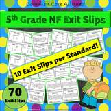 5th Grade Fraction Exit Slips: Fractions Exit Tickets 5th Grade Math Exit Slips