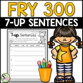 7-up Sentence Writing Using 300 Fry Sight Words