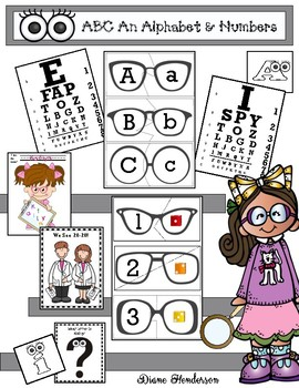 Alphabet and Number Activities & Games With an Eye Theme