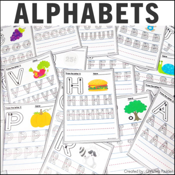 Alphabet Letter Tracing Uppercase