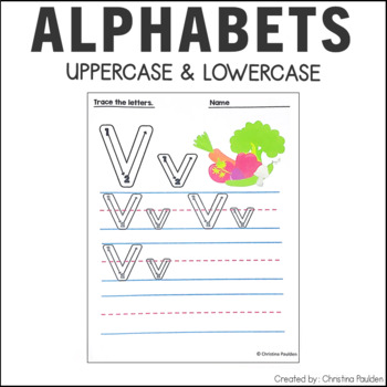 Alphabet Letter Tracing Uppercase and Lowercase