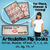Articulation Flip Books Place Manner Voicing Later Sounds Speech Therapy