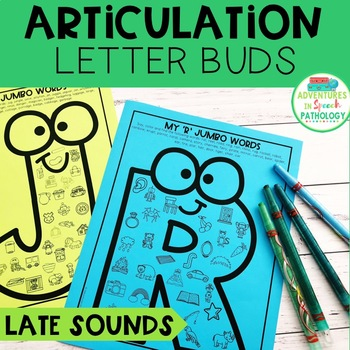 Articulation Letter Buds - LATE Sounds