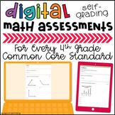 Google Classroom™ Activities: BUNDLE of Digital, Self-grading Math Quizzes 4th