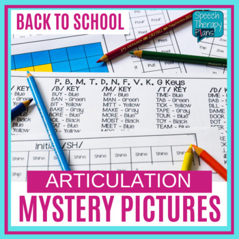 Back To School Speech Therapy Mystery Pictures - No Prep Articulation