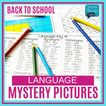 Back To School Speech Therapy Mystery Pictures - No Prep Language