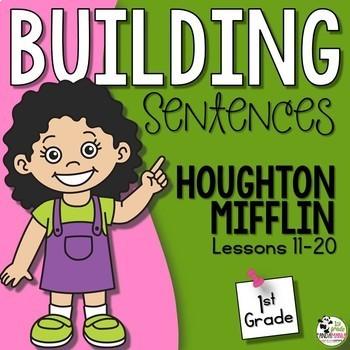 Journeys 1st Grade Building Sentences with Decodable Readers HMH Lessons 11-20