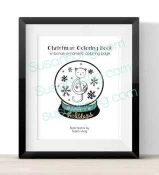 Christmas Coloring Book w Bonus Ornament coloring page
