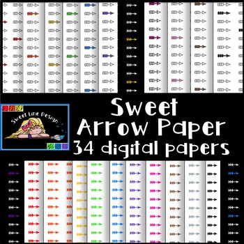 Clipart - Arrow Digital Paper {Sweet Line Design}