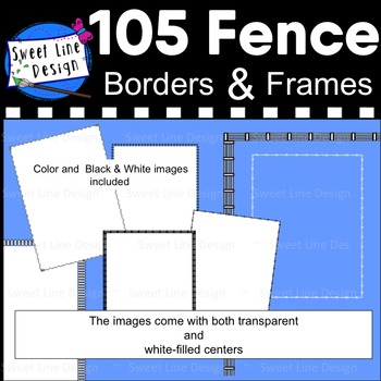 Clipart - Fence Frames (Barbed Wire, Corral, Picket, Rope, Wavy Rope}