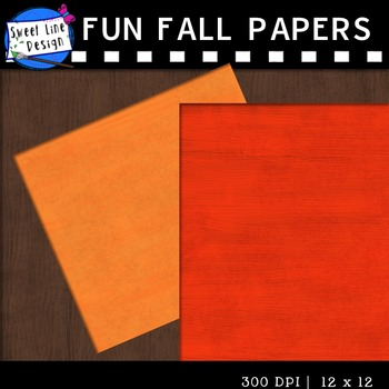 Clipart - Fun Fall Papers {Sweet Line Design}