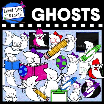 Clipart - Ghosts {Sweet Line Design}