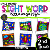 Color by Sight Word | Space Activities | Zoo | Second Grad